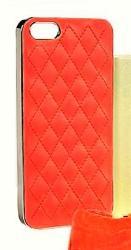 Кожен калъф за iPhone 6 / 6S 4.7 / Бял, черен, син, червен и лилав / ромб