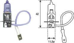 Magneti Marelli Bec auto halogen pentru far Magneti Marelli H3 55W 12V 00255310000
