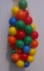 Műanyag labdácskák PB 6 cm színesek 100 db (11117)