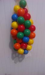 Műanyag labdácskák PB 6 cm színes 50 db (11116)