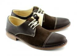 Lucianis style Pantofi maro barbati casual - eleganti din piele naturala - Made in Romania (858M)