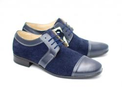 Lucianis style Pantofi bleumarin barbati casual - eleganti din piele naturala - Made in Romania (1006B)
