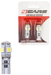 4Cars Bec Led - 5SMD 12V pozitie T10 W2, 1x9, 5d Canbus 2buc 4Cars - Alb