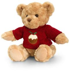 Keel Toys Christmas Pip the Bear - Ursulet traditional cu pulover 20cm