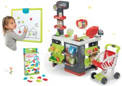 Smoby Set magazin Supermarket Smoby cu casă de marcat electronică şi tablă magnetică agăţabilă cu magneți (SM350213-33)