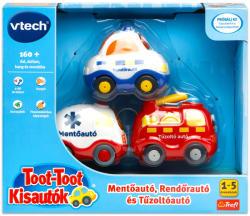 VTech Toot-Toot: 3 darabos vészhelyzeti autó (60814)