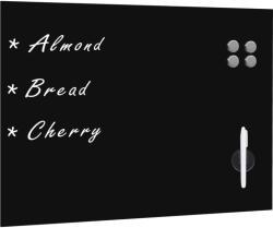 vidaXL Tablă magnetică de perete neagră, sticlă, 80 x 60 cm (30108)