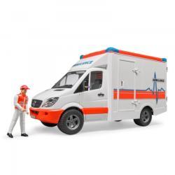 BRUDER Mercedes-Benz Sprinter mentőautó sofőrrel (02536)