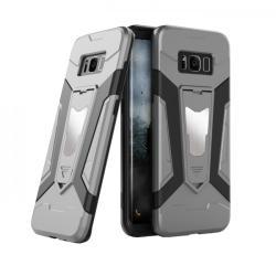 krasscom Husa antisoc cu stand metalic pentru suport magnetic Samsung Galaxy S8 Plus, gri (ARMOR004) - vexio