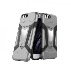 krasscom Husa antisoc cu stand metalic pentru suport magnetic Xiaomi Mi 6, gri (ARMOR025) - vexio