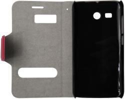 Husa tip carte cu stand rosie (cu decupaje frontale) pentru Huawei Ascend Y511
