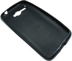 Husa silicon neagra (cu spate mat) pentru Alcatel One Touch X'Pop (OT-5030, OT-5035D, OT-5035E, OT-5035Y)