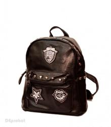 Made in China Geanta dama Good Mood - Rucsac negru dama cod 7174N