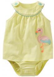 Carter's - Rochita Flamingo Sunsuit (B00V3VOF9M)