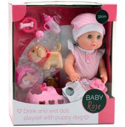 Baby-Rose Pisilős baba kiskutyával