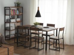 Beliani Modern fekete és barna színű asztal 90x150 cm LAREDO