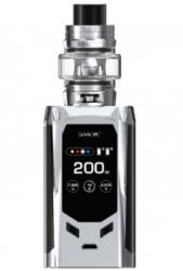 Smok Kit Tigara Electronica Smok R-Kiss Silver Black 200W, TFV-Mini V2 EU edition, Functie TC, 2 Rezistente Incluse