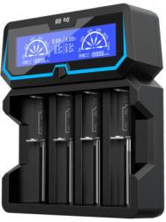 Xtar négycsatornás 18650 21700 26650 X4 hálózati és USB Lithium-Ion Li-Ion akkumulátor/cella töltő/adapter