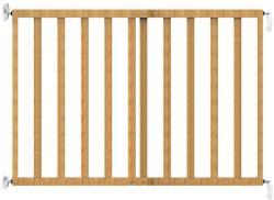 Noma Poarta de siguranta extensibila 64 - 100 cm, lemn natur