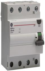General Electric Intrerupator tetrapolar diferential RCCB/BP 4P/AC 40A/0, 03MA (606209)