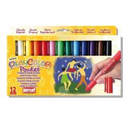 Playcolor Tempera Solida 12 Culori Playcolor Pocket, Instanr - Playcolor ( Ins10521)