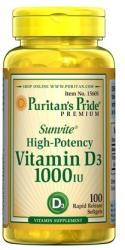 Puritan's Pride Vitamin D3 1000IU - fitandhealthy - 27,00 RON