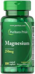 Puritan's Pride Magnesium 250mg 100 Caplets