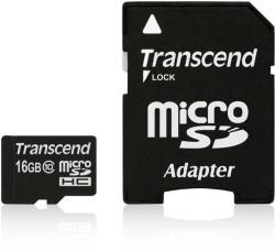 Transcend microSDHC 16GB C10 TS16GUSDHC10