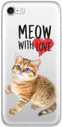 Lemontti Husa iPhone 8 / 7 Lemontti Silicon Art Meow With Love (LEMHSP7MLV)