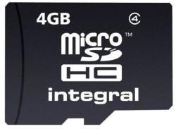 Integral MicroSDHC 4GB Class 4 INMSDH4G4NAV2
