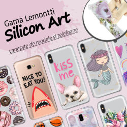 Lemontti Husa iPhone 8 / 7 Lemontti Silicon Art Flowers (LEMHSP7TF)