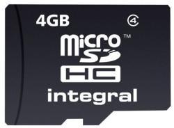 Integral MicroSDHC 4GB Class 4 INMSDH4G4V2