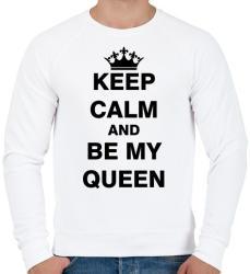 9573cf78d0 6 490 Ft printfashion Nyugodj le és légy a királynőm - Férfi pulóver - Fehér