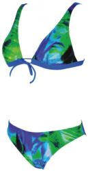 arena palm bow bra green/blue 32