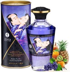 Shunga luxus vágykeltő csókolható melegítő masszázsolaj egzotikus gyümölcs ízzel 100 ML