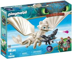 Playmobil Light Fury, Pui de Dragon si Copii (70038)
