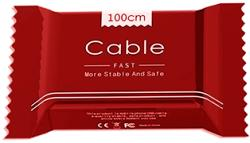 HQ Cablu Date & Incarcare MicroUSB Fast Charge - 1 Metru (Rosu) Candy Box