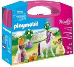 Playmobil Set Portabil - Printese Si Unicorn (70107)