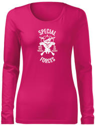 WARAGOD Slim tricou de damă cu mânecă lungă special forces, roz 160g/m2