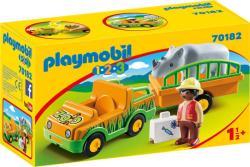 Playmobil Állatkerti autó orrszarvúval (70182)