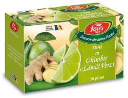 Fares Ceai cu ghimbir si lamai verzi 20 plicuri