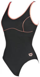arena tania clip back one piece black/shiny pink 36
