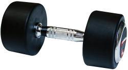 inSPORTline Egykezes gumírozott fix súlyzó 17, 5 kg