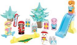 Ecoiffier Abrick Calendar de Advent Twee Pop cu 24 accesorii şi tobogan (3016)