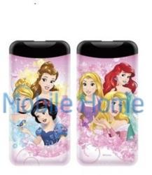 WB mintás külső akkumulátor 2.1A 6000mAH, Disney hercegnők, színes - mobilehome