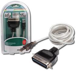 ASSMANN Cablu USB A/ paralel imprimanta 36 pini M, 1.8 m (DC USB-PM1) - vexio