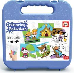 Educa Pexeso autocolante Povești Colouring Activities Educa în valiză 18 piese - colorare cu carioci (EDU18211)