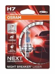 OSRAM Bec H7 Night Breaker Laser Next Generation +150% 12V 55W (64210NL-01B) - badabum