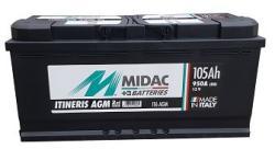 Midac Itineris AGM 105Ah 950A borna normala