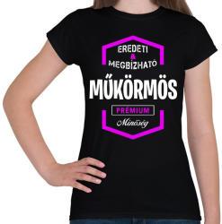 printfashion Műkörmös prémium minőség - Női póló - Fekete